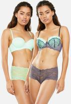 DORINA - Layla 2 pack balcony bra green & grey