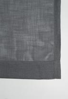 Sixth Floor - Two tone eyelet curtain - grey/charcoal