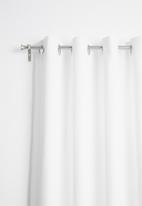 Sixth Floor - Eyelet curtain extra length - white