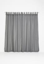 Sixth Floor - Tie top curtain - charcoal