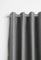 Sixth Floor - Eyelet curtain - charcoal