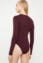 Superbalist - 2 Pack bodysuit - navy & burgundy