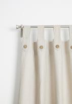 Sixth Floor - Diamond tab top curtain - natural
