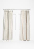 Sixth Floor - Diamond tab top curtain - natural