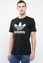 adidas Originals - Trefoil crew tee - black & white