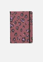 Typo - A5 fabric undated daily diary - purple