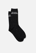 Typo - Lcn star wars galaxy socks - black