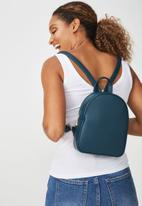 Typo - Mini arch backpack - teal