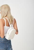 Typo - Mini arch backpack - white