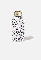 Typo - Mini metal drink bottle - white & black