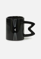 Typo - Novelty shaped mug - black
