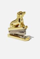Typo - Shaped mini stapler - gold