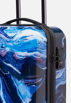 Typo - Tsa small suitcase - blue & white