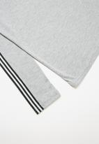 Rebel Republic - Sports long sleeve tape tee with stripe detail - grey