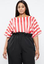 STYLE REPUBLIC PLUS - Basic boxy blouse - red & white