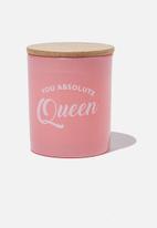 Typo - Premium candle - pink