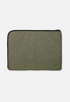Typo - Premium laptop case - khaki & tan