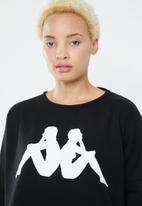 KAPPA - Crew neck sweatshirt - black & white