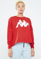 KAPPA - Crew neck sweatshirt - red & white