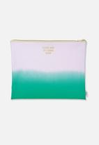 Typo - Printed document wallet - purple & green