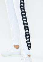 KAPPA - 222 banda wastoria slim track pant - white & black