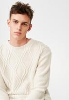 Cotton On - Cable knit sweater - cream