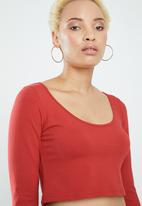 Supré  - Long sleeve tiny tee - red