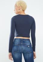 Supré  - Long sleeve tiny tee - navy