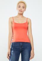 Supré  - Luxe scoop neck cami - orange