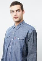 Levi's® - Classic modern western side pieced chambray shirt - blue
