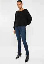ONLY - Hilde long sleeve oversize pullover - black