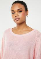 ONLY - Hilde long sleeve oversize pullover - pink