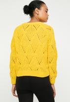 ONLY - Yasmin long sleeve structure pullover - yellow