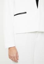 MANGO - Inside lapel blazer - white
