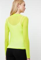 Superbalist - Long sleeve mesh tee - neon yellow