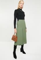 MANGO - Seam detail culotte trousers - khaki