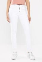 GUESS - Guess skinny high waist jeans - white