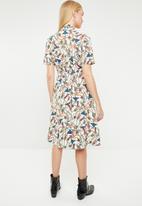 MANGO - Scarf printed shirt dress - multi