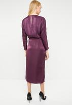 MANGO - Wrap over dress - purple