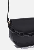 Cotton On - Chunky chain handbag - black