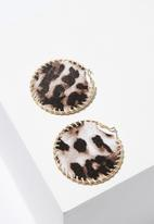 Cotton On - Jane animal earring - brown & gold