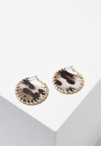 Cotton On - Susie animal earring - brown & gold