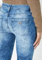 GUESS - Guess embroidery detail skinny jeans - blue
