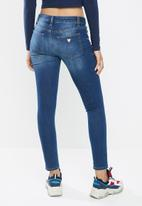 GUESS - Guess mid power skinny jeans - blue