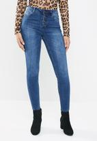 Sissy Boy - Jon skinny front button stand jeans - blue