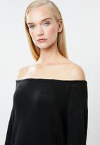 STYLE REPUBLIC - Slouchy knit jersey - black