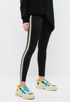 STYLE REPUBLIC - Racing stripe leggings - black