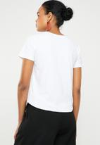 STYLE REPUBLIC - Face abstract T-shirt - white