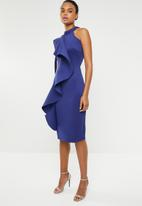STYLE REPUBLIC - Ruffle detail dress - blue