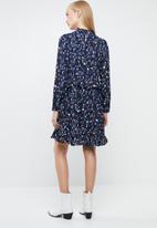 Vero Moda - Abbyshort print dress - blue